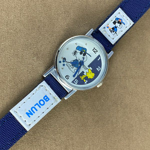 Vintage Accessories - Snoopy and Woodstock Golfing Watch Navy Strap
